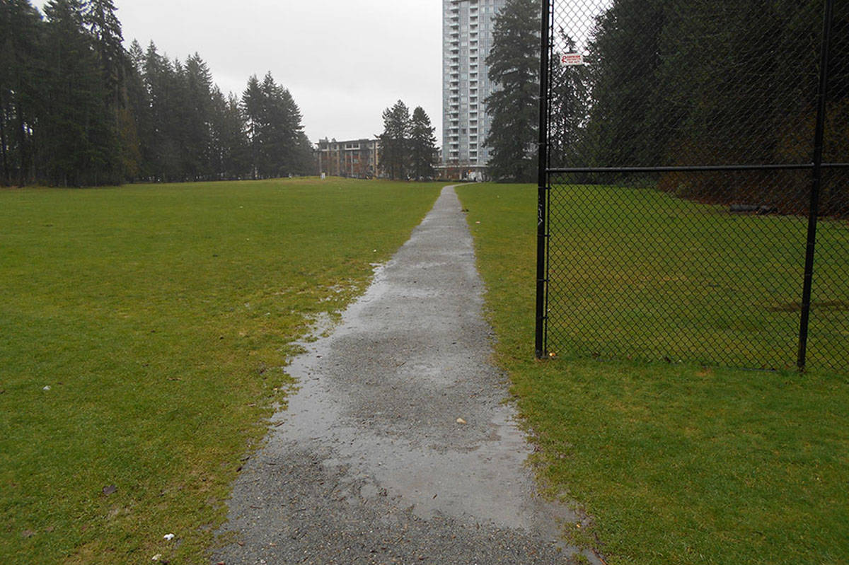 Mounties say four sexual assaults have occurred on this trail in Glen Park in Coquitlam. (RCMP)