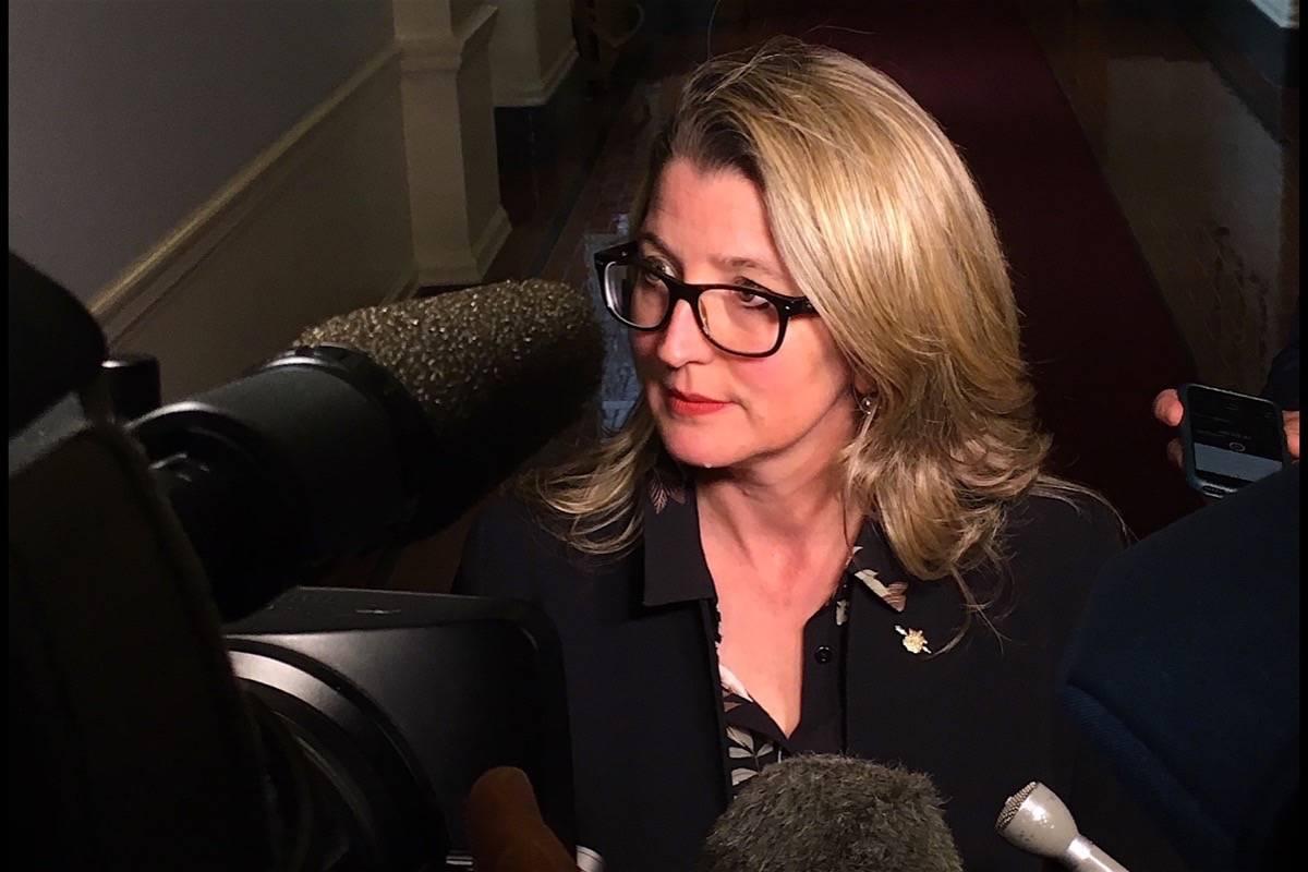 B.C. Agriculture Minister Lana Popham at the B.C. legislature, October 2017. (Tom Fletcher/Black Press)