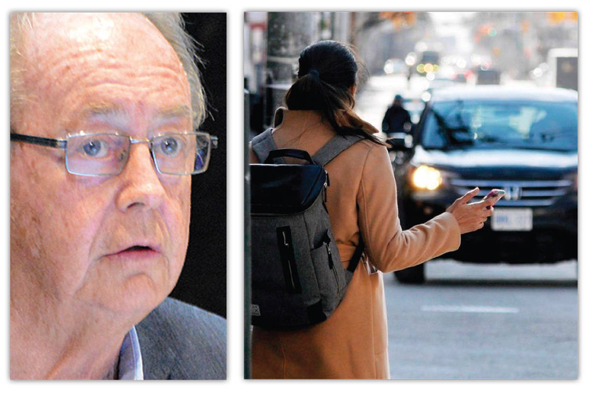"Surrey Mayor Doug McCallum says he has ""no concerns"" over Uber's threat of legal action against the city. (Photos: Now-Leader/Flikr)"