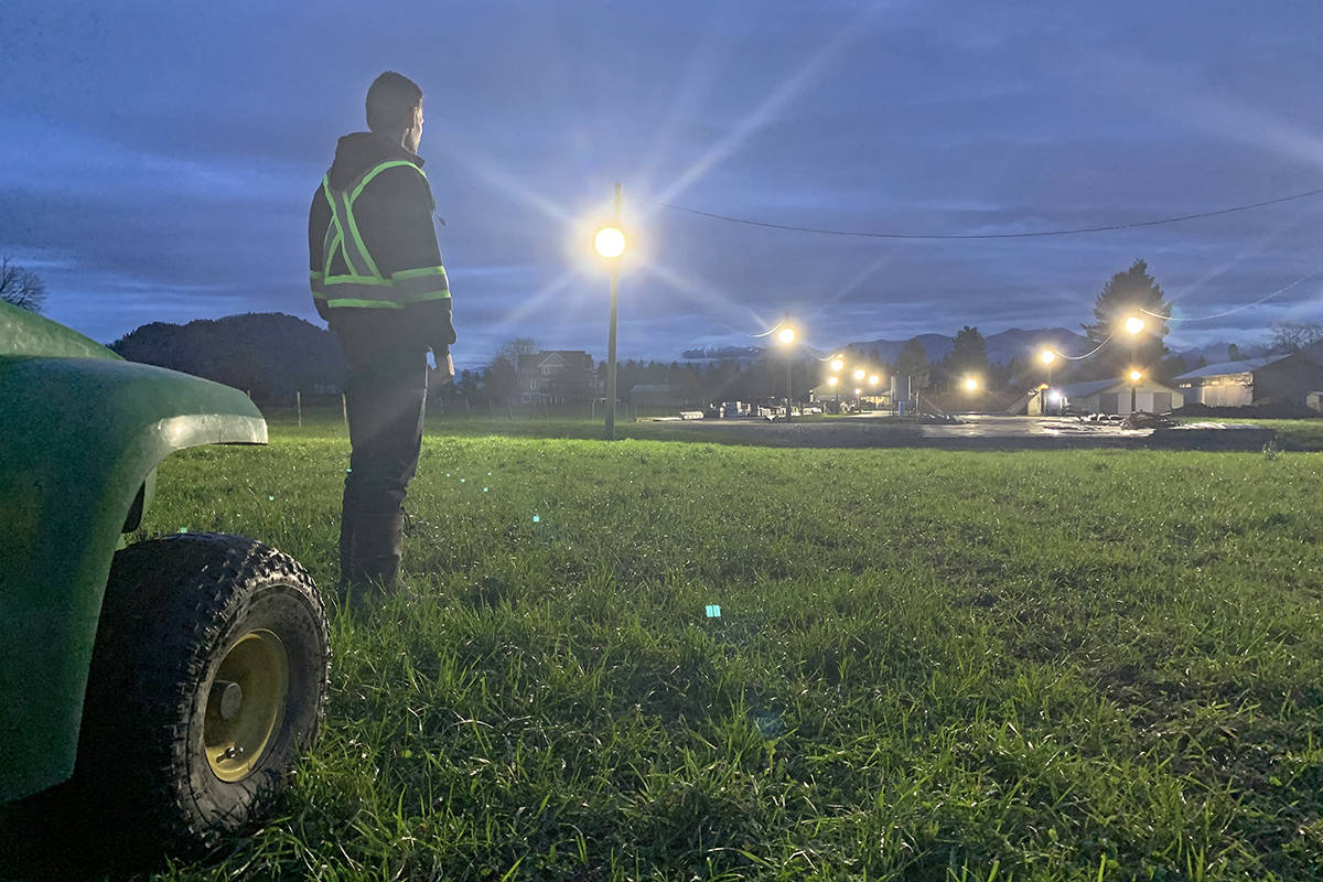After being the victim of an alleged arson in 2015 and an obvious arson caught on video in 2019, Greendale resident Chris Thompson spent more than $30,000 on security cameras and lights making his property look like an airport runway. (Paul Henderson/ The Progress)