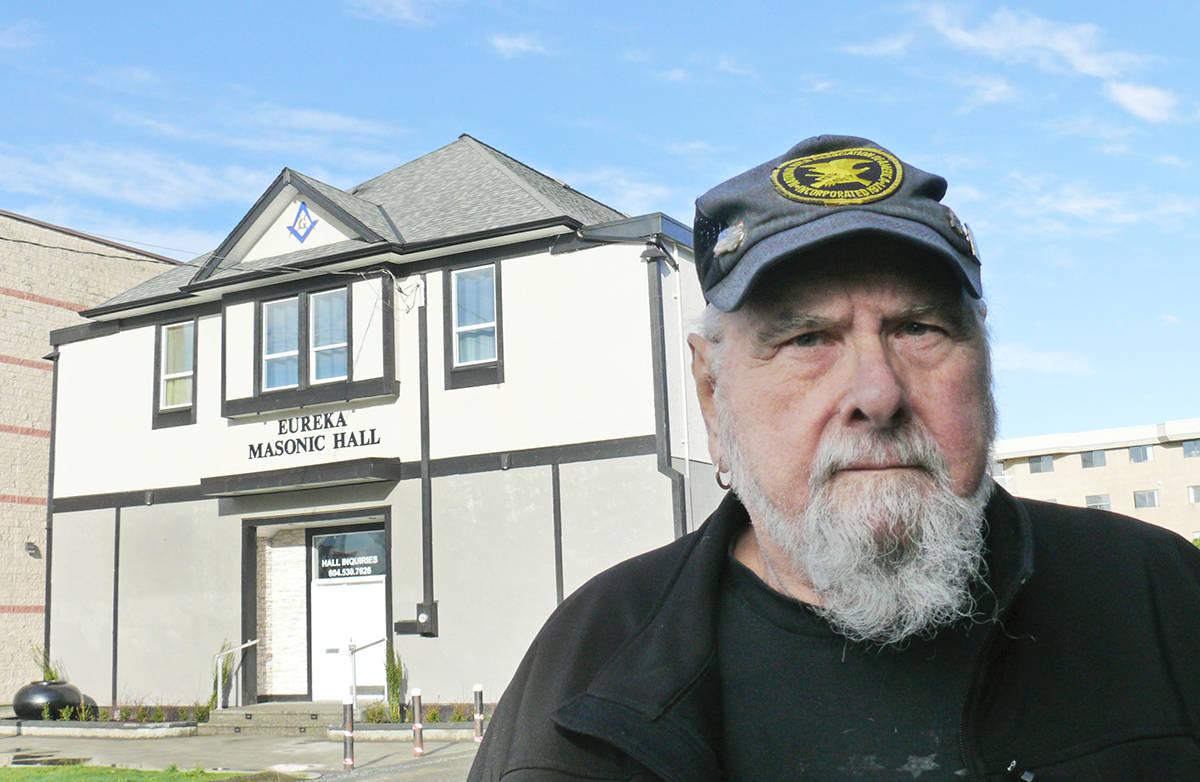 Another jump in the assessed value of the 93-year-old Masonic Hall in Langley City could mean another tax hike that would force the sale of the building at 20701 Fraser Hwy., according to Warren Stuart, a director of the non-profit Eureka Society that operates the hall. (Dan Ferguson/Langley Advance Times)