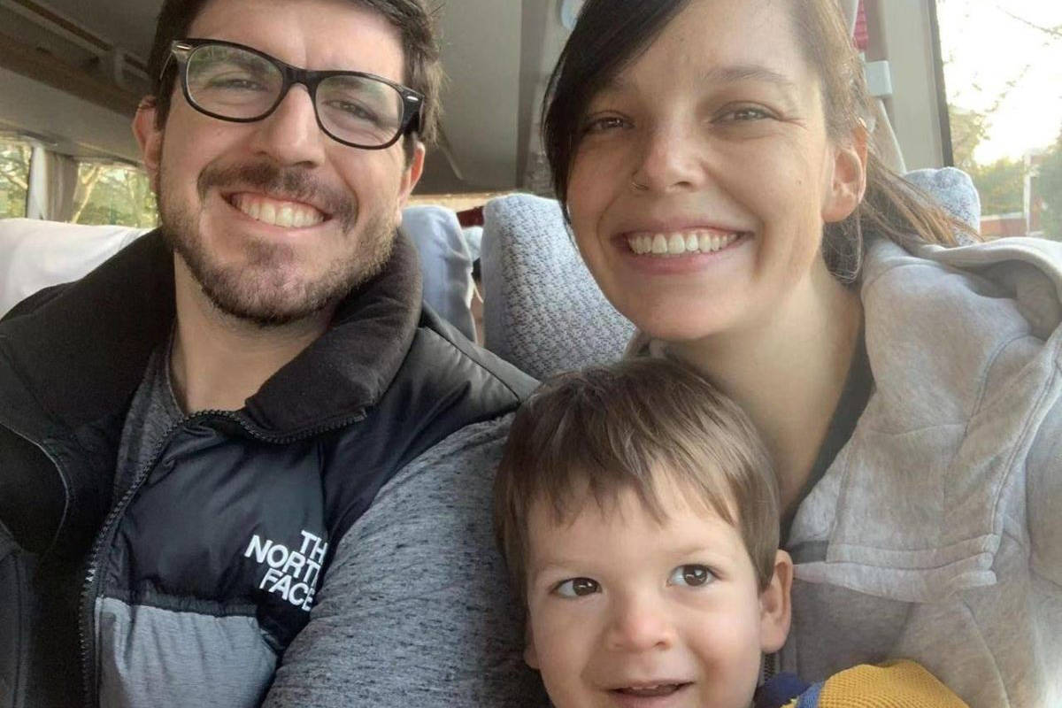Tom Williams along with his wife Lauren and son James are seen in this undated handout photo. Tom Williams is a British expat who has been living and working for about five years in Wuhan, which is the capital of Hubei province in China. His wife Lauren, who is from Langley, B.C., is about 35 weeks pregnant, he said in a telephone interview from Wuhan. He also has a two-and-a-half-year-old son, James, who was born in White Rock, B.C. (THE CANADIAN PRESS/HO, Tom Williams)