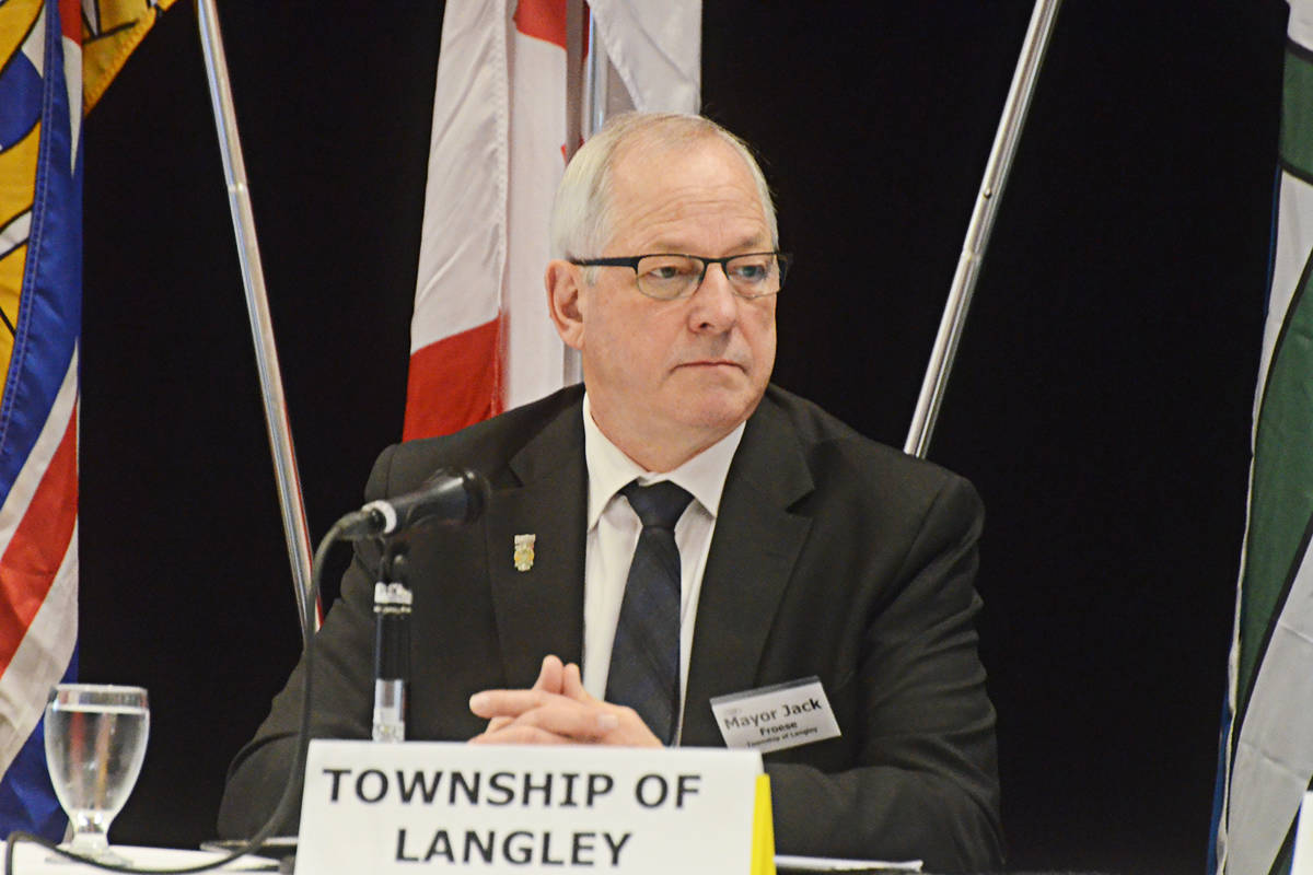 Langley Township Mayor Jack Froese at the UDI forum in Langley on Jan. 29. (Matthew Claxton/Langley Advance Times)