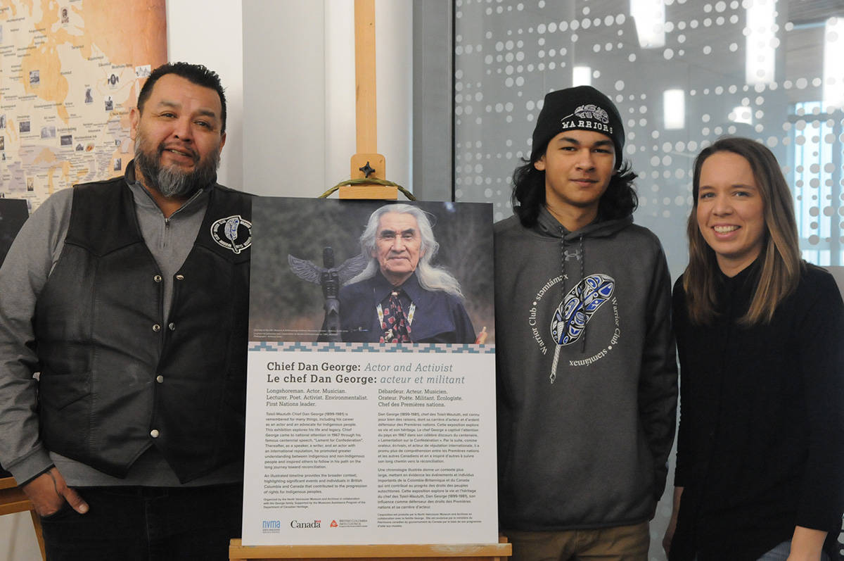 VIDEO: R.E. Mountain Secondary welcomes Chief Dan George exhibit on loan from North Vancouver