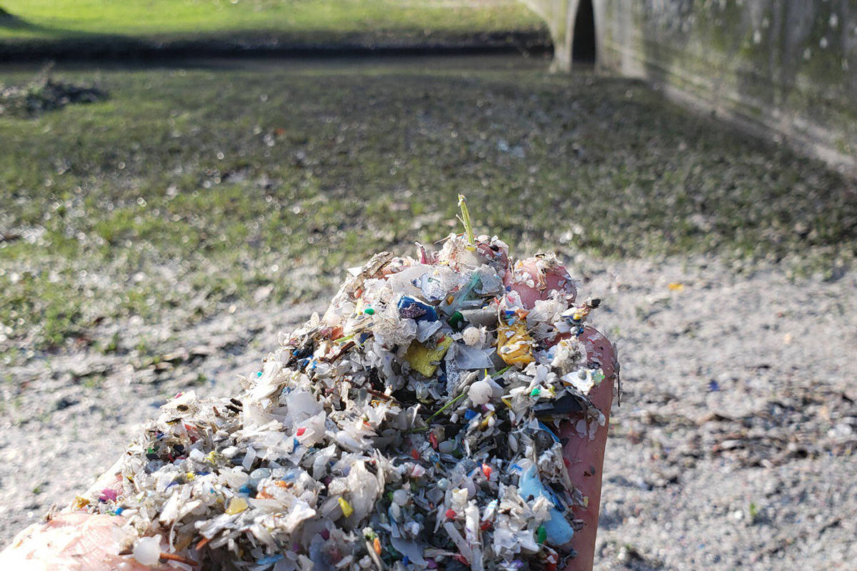 Plastic trash, including small pellets called nurdles, are washing up on B.C. shorelines. (Surfrider Vancouver)