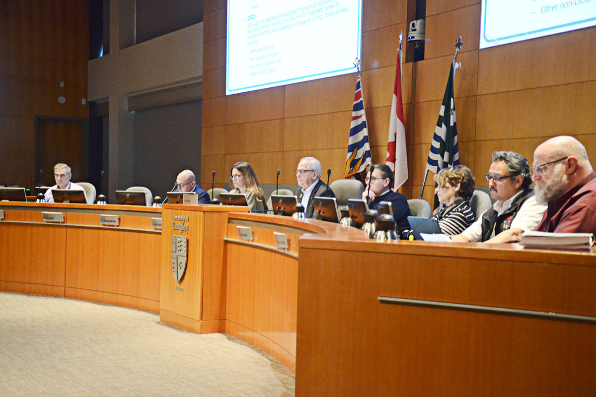 Langley Township council heard presentations on capital spending and options for reducing taxes or funding more projects at the Monday, Feb. 3 meeting. (Matthew Claxton/Langley Advance Times)