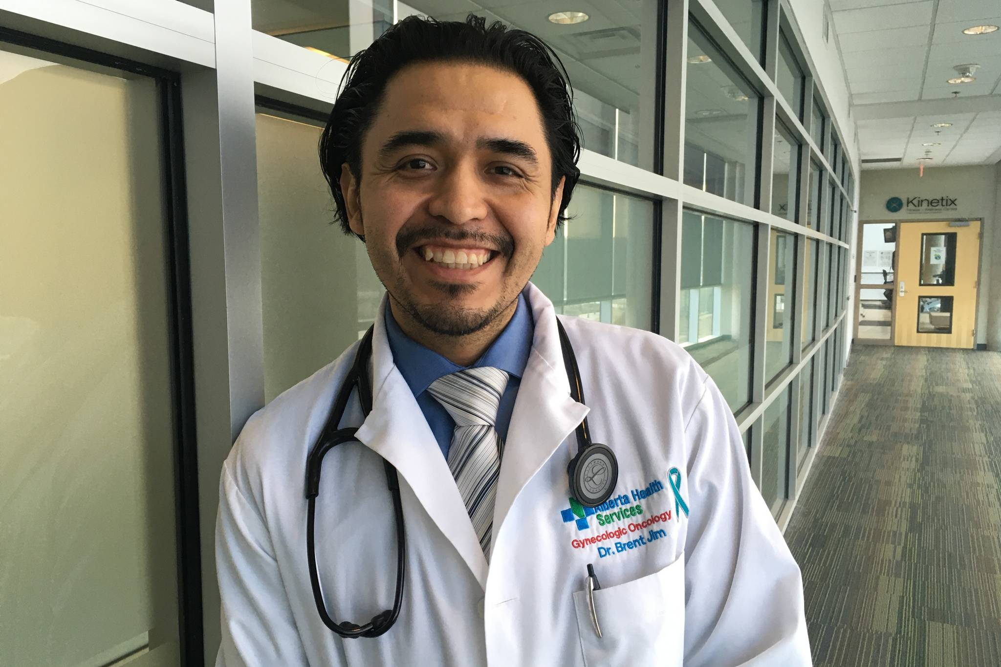Dr. Brent Jim, from the tiny village of Witset, B.C., is the first Indigenous gynecologic oncologist in the country. (Contributed photo)