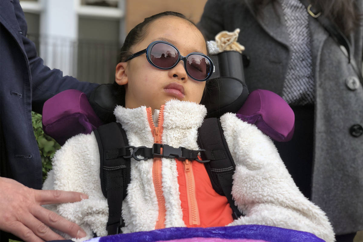 Leila Bui remains in an unresponsive state more than two years since she was struck in a Saanich crosswalk. The now 13-year-old was in court when a guilty verdict was read for Tenessa Nikirk, the woman who struck her. (Nina Grossman/News Staff)