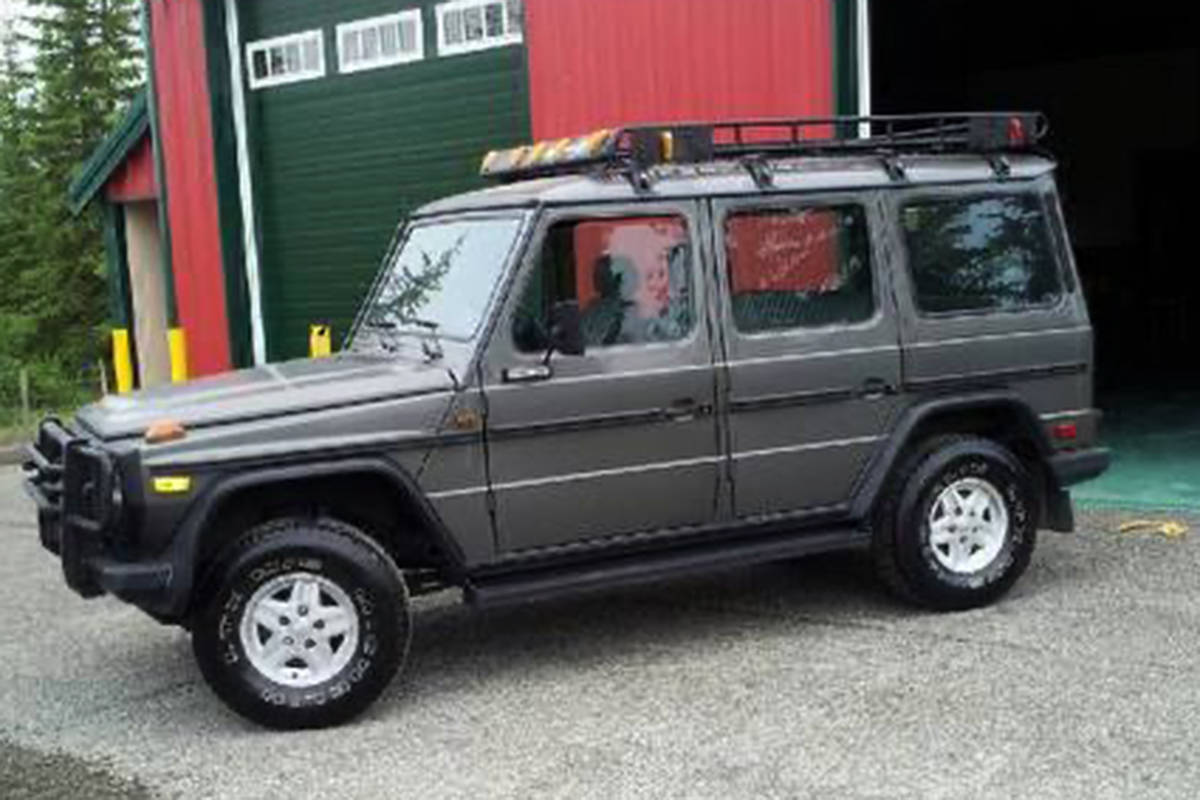 A grey 1986 Mercedes 280GE SUV stolen from the Clinton area. (Submitted photo)