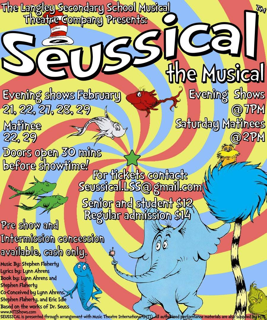 Langley Secondary School presents a bright costume-filled production of Seussical the Musical. (Ryan Uytdewilligen/Langley Advance Times)