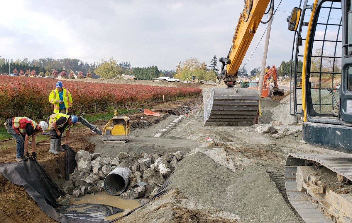 Langley's Tybo Contracting undertook the $25.5-million highway widening project in July 2018, it was largely completed by December 2019. (Tybo photo)