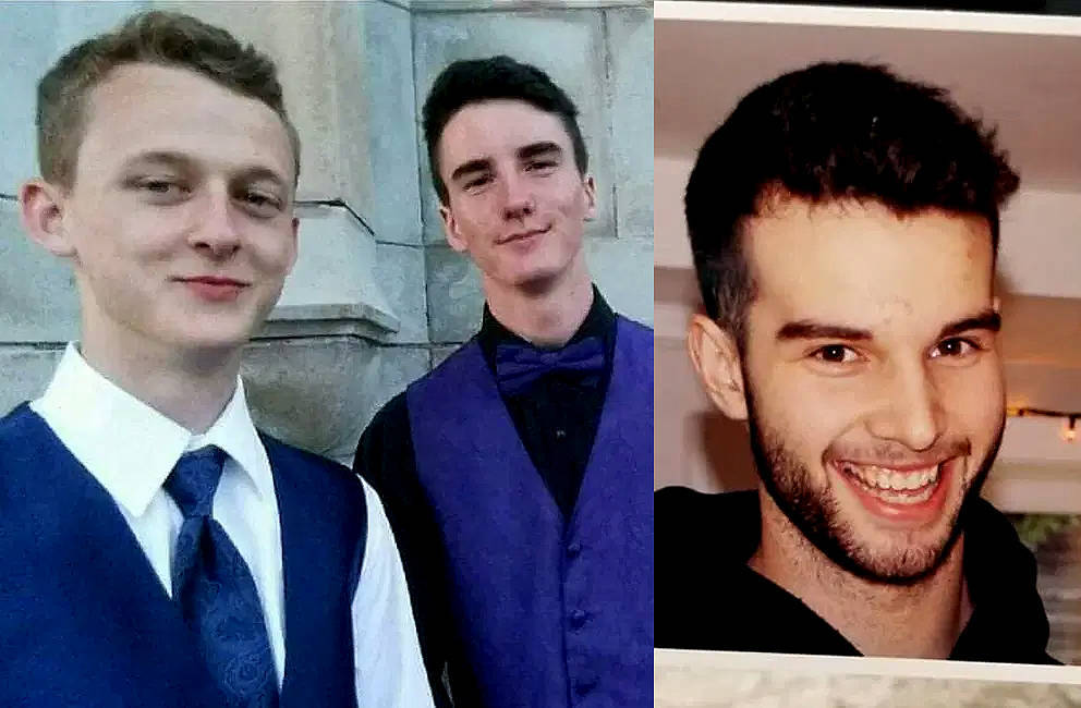Cory Mills, Eric Blackmore and A.J. Jenson went missing in Sooke on Friday night. (Black Press Media)