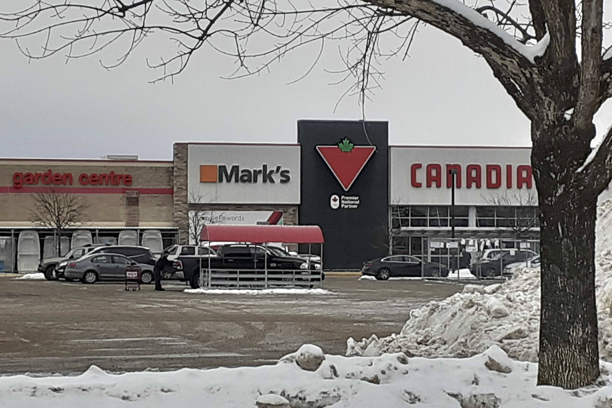 Mark's Work Wearhouse Ltd. and Piccadilly Place Mall Inc. are being sued by a woman who states she fell in the store in February 2018, causing an emergency C-section. (Martha Wickett -Salmon Arm Observer)