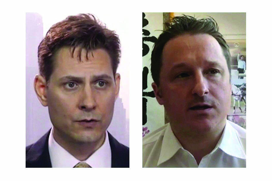 Experts say Ottawa shouldn't expect Beijing to do it any favours and free Michael Kovrig and Michael Spavor in return for medical co-operation on the coronavirus. Kovrig (left) and Spavor are shown in these 2018 images taken from video. THE CANADIAN PRESS/AP