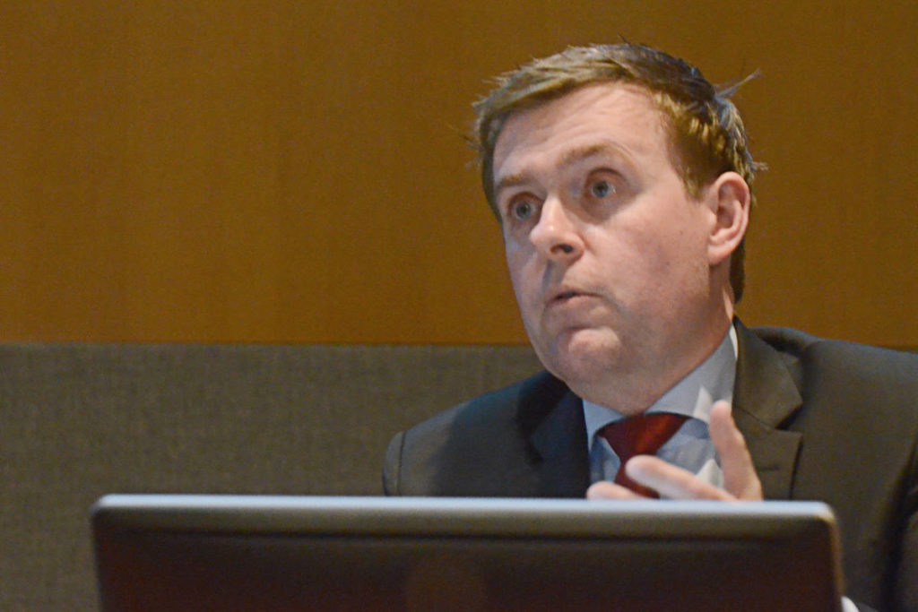 Township Coun. Eric Woodward suggested a number of budget changes for the 2020 budget. (Matthew Claxton/Langley Advance Times)