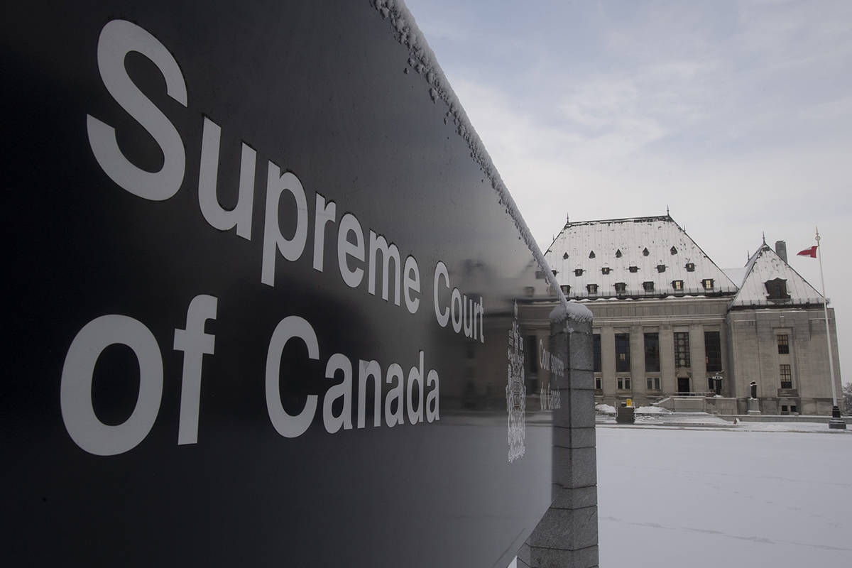 The Supreme Court of Canada is seen in Ottawa on January 16, 2020. The Supreme Court of Canada will revisit the decisions of courts in British Columbia and Ontario that said the federal law allowing prolonged solitary confinement in prison was unconstitutional. THE CANADIAN PRESS/Adrian Wyld