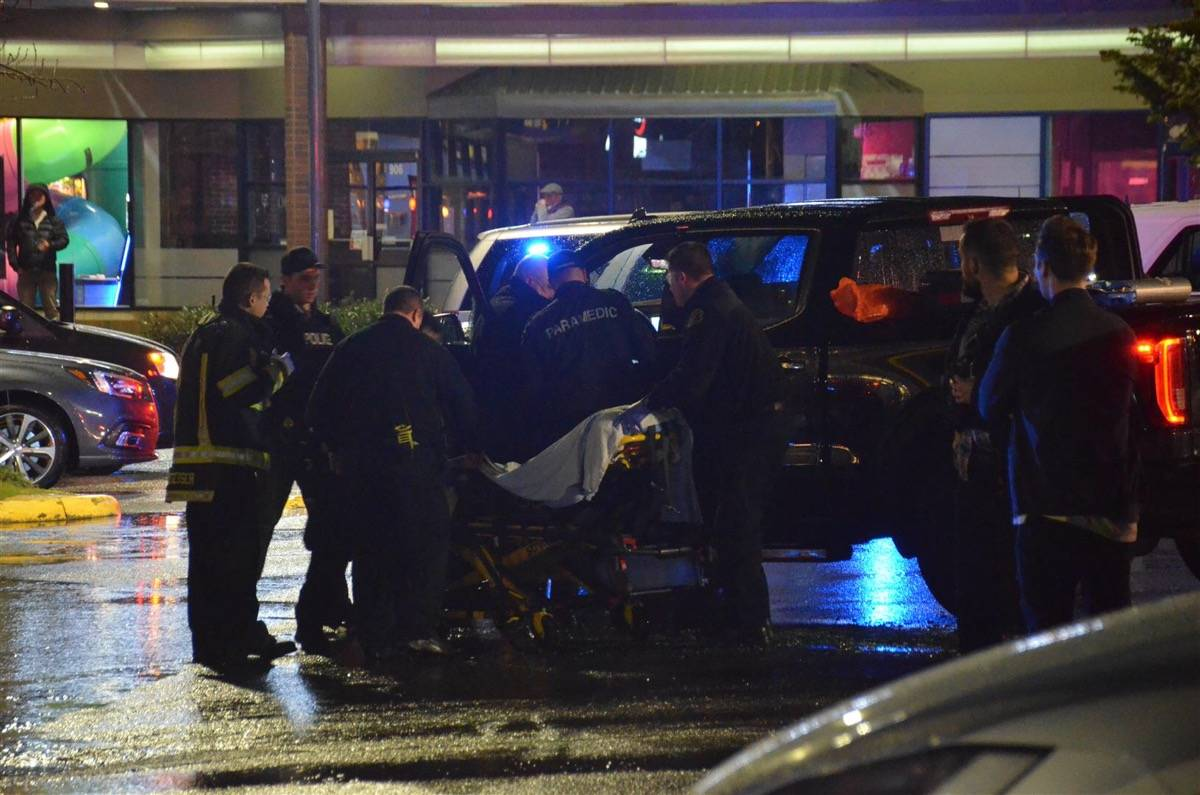 Langley RCMP are investigating a shooting at a shopping centre in the 6300 block of 200th Street. (Curtis Kreklau/Special to the Langley Advance Times)