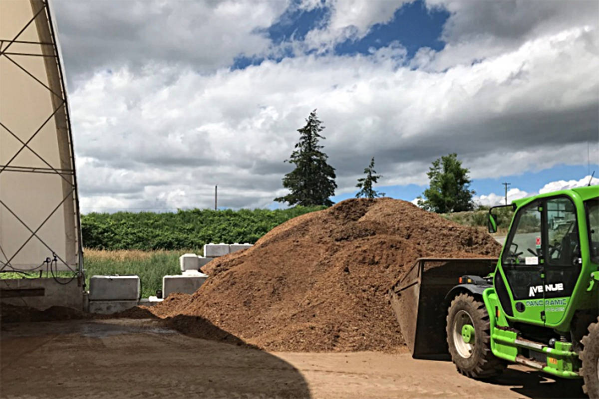 A photo taken on June 25, 2018 by a Ministry of Environment inspector shows 93 Land Company's agricultural waste stored outside their storage facility.