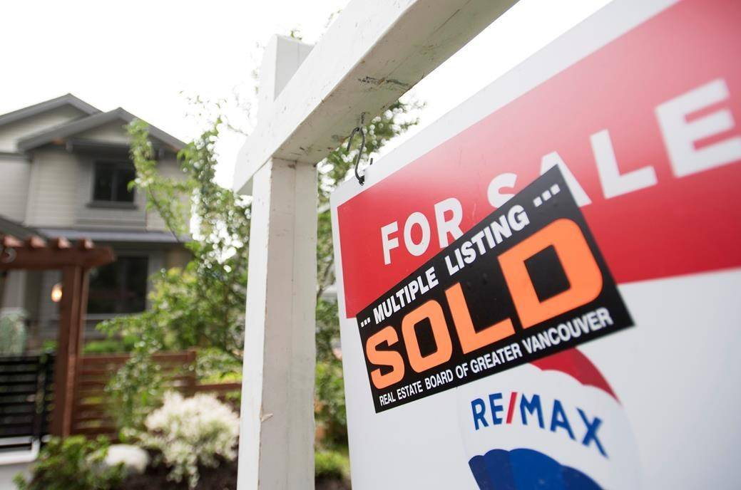 Real estate for sale sign. (The Canadian Press files)
