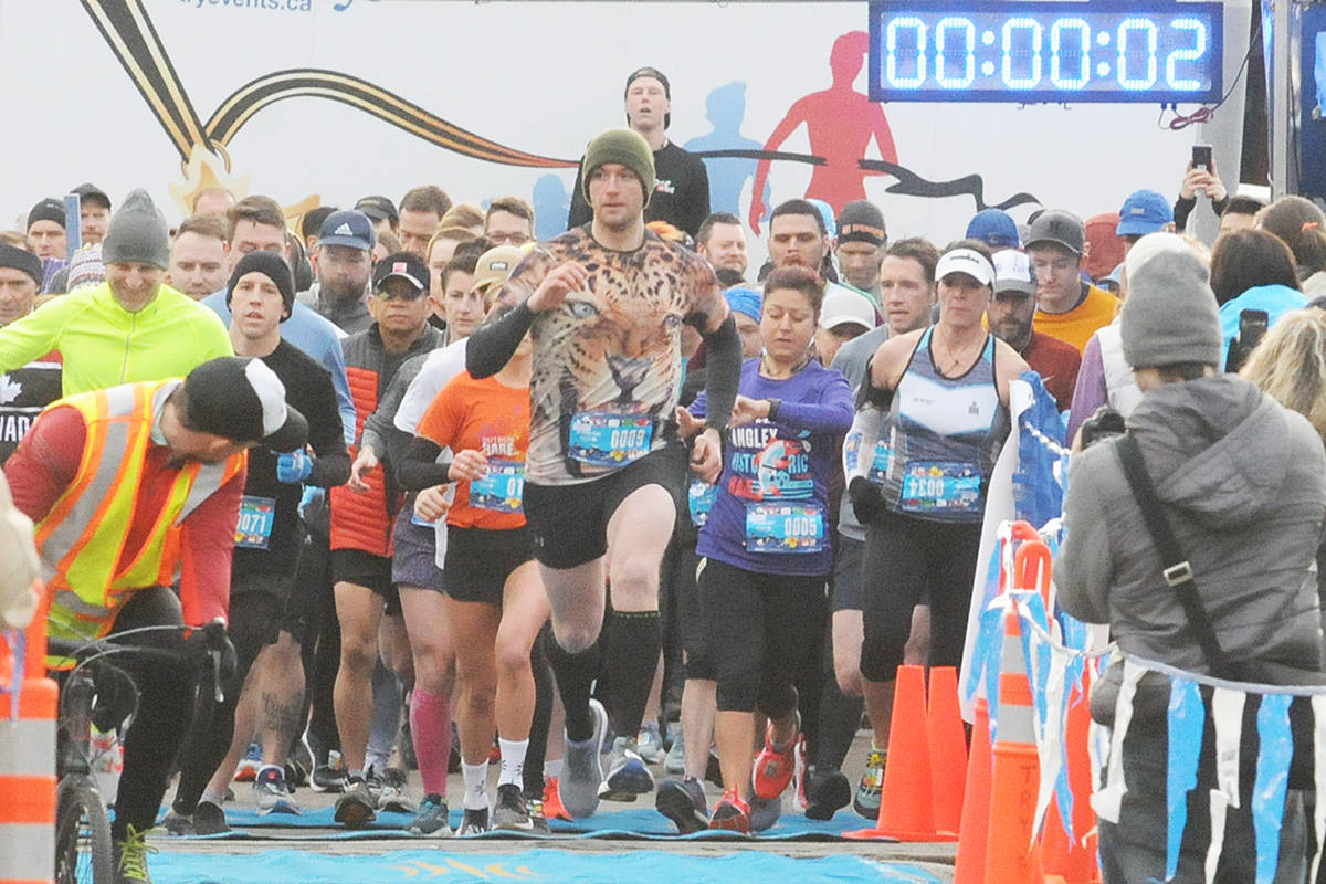More than 500 people took part in the annual Historic Half Marathon through Fort Langley on Sunday, Feb. 16 (Dan Ferguson/Langley Advance Times)