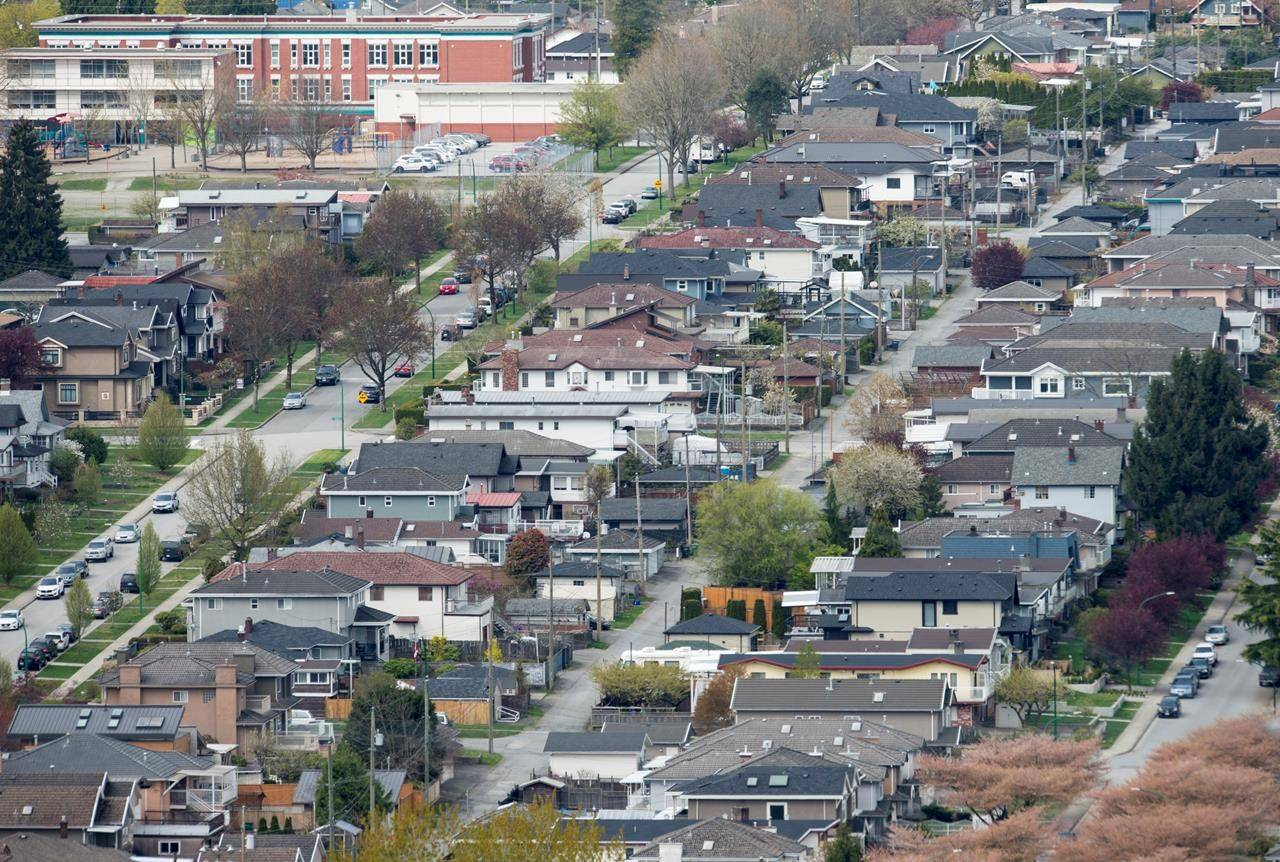 Homes are pictured in Vancouver on April 16, 2019. THE CANADIAN PRESS/Jonathan Hayward