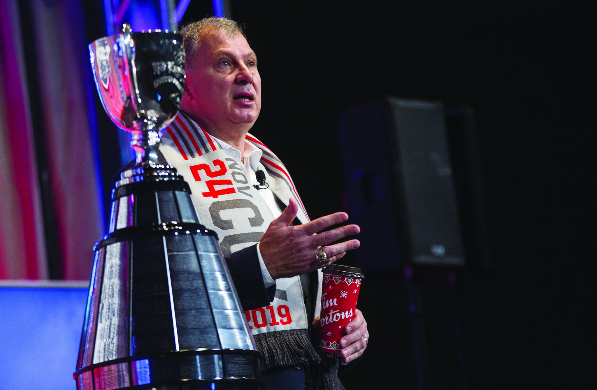 Canadian Football League commissioner Randy Ambrosie delivers his annual state of the league address to reporters during the CFL Grey Cup week in Calgary, Friday, Nov. 22, 2019. Ambrosie can see the CFL going global in 2021. The CFL commissioner said Tuesday during the league???s winter meetings the league will likely play a regular-season game outside of Canada sometime in 2021.THE CANADIAN PRESS/Todd Korol