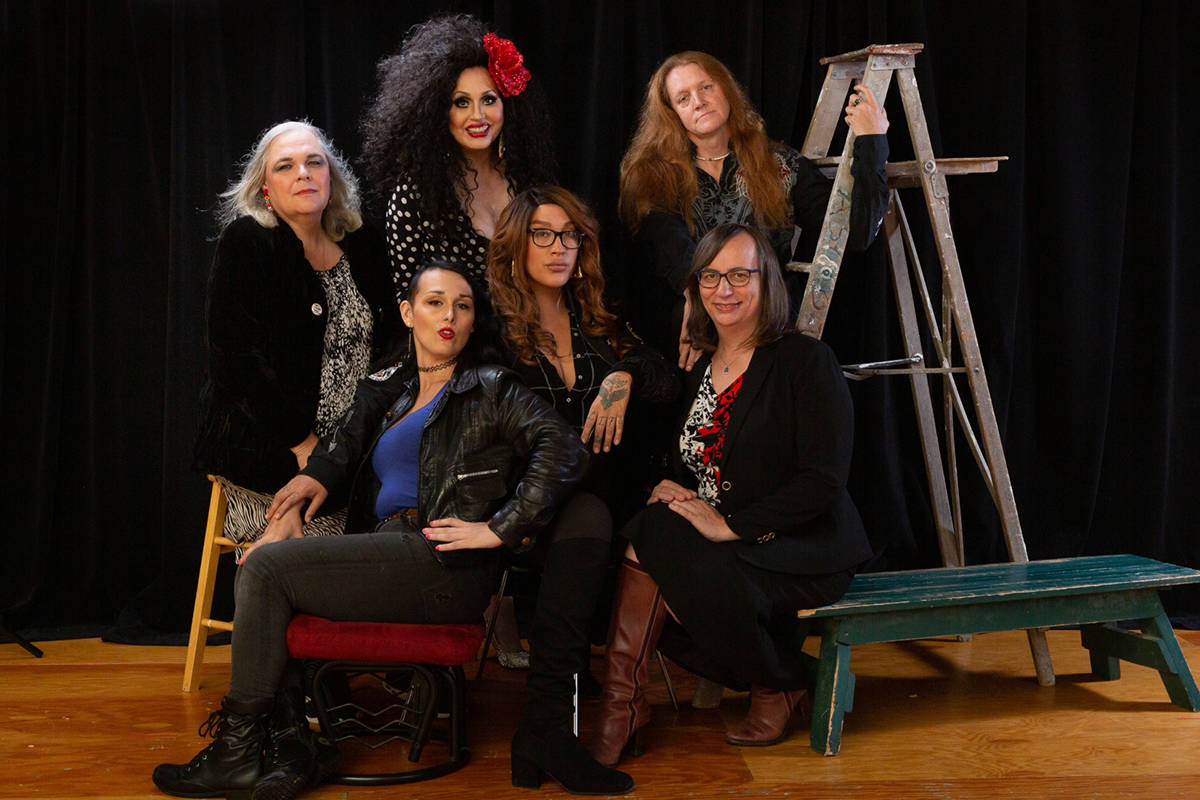 The cast of Zee Zee Theatre's Trans Scripts, Part I: The Women. (Tina Krueger Kulic/Special to the Langley Advance Times)