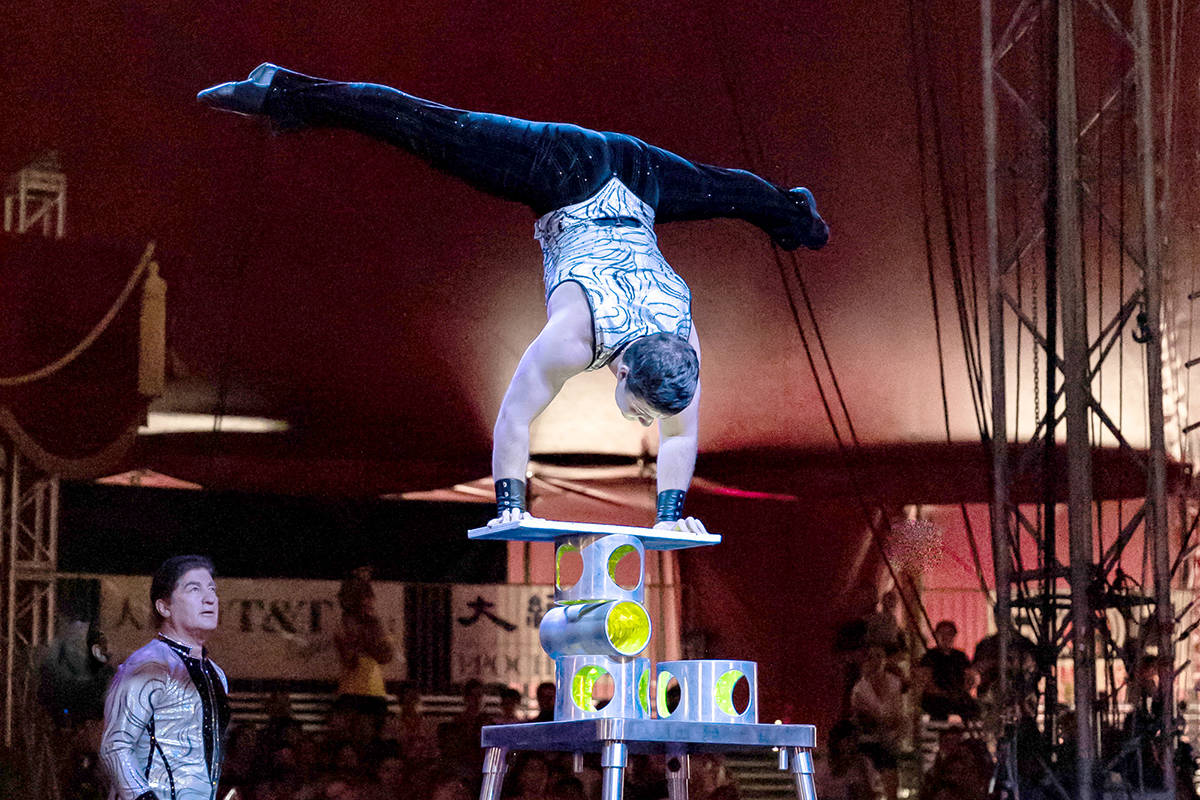 Acrobats are featured in the touring Royal Canadian International Circus. (submitted photo)