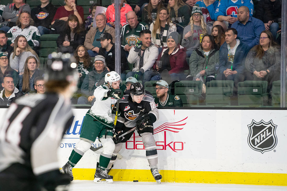 For the first time in a span of 12 games, the Vancouver Giants lost a hockey game. Saturday night, Feb. 22, in Everett, WA the Giants dropped a 2-1 decision to the Everett Silvertips (Chris Mast/special to Langley Advance Times)
