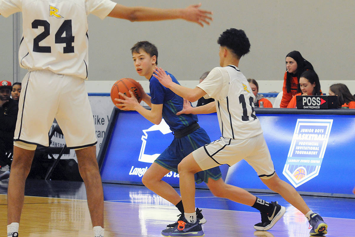 Burnaby South opened with a dominant 55-28 win over Charles Hays during first day of play at the 2020 Junior Boys Basketball Provincial Invitational Tournament underway at Langley Events Centre (Dan Ferguson/Langley Advance Times)