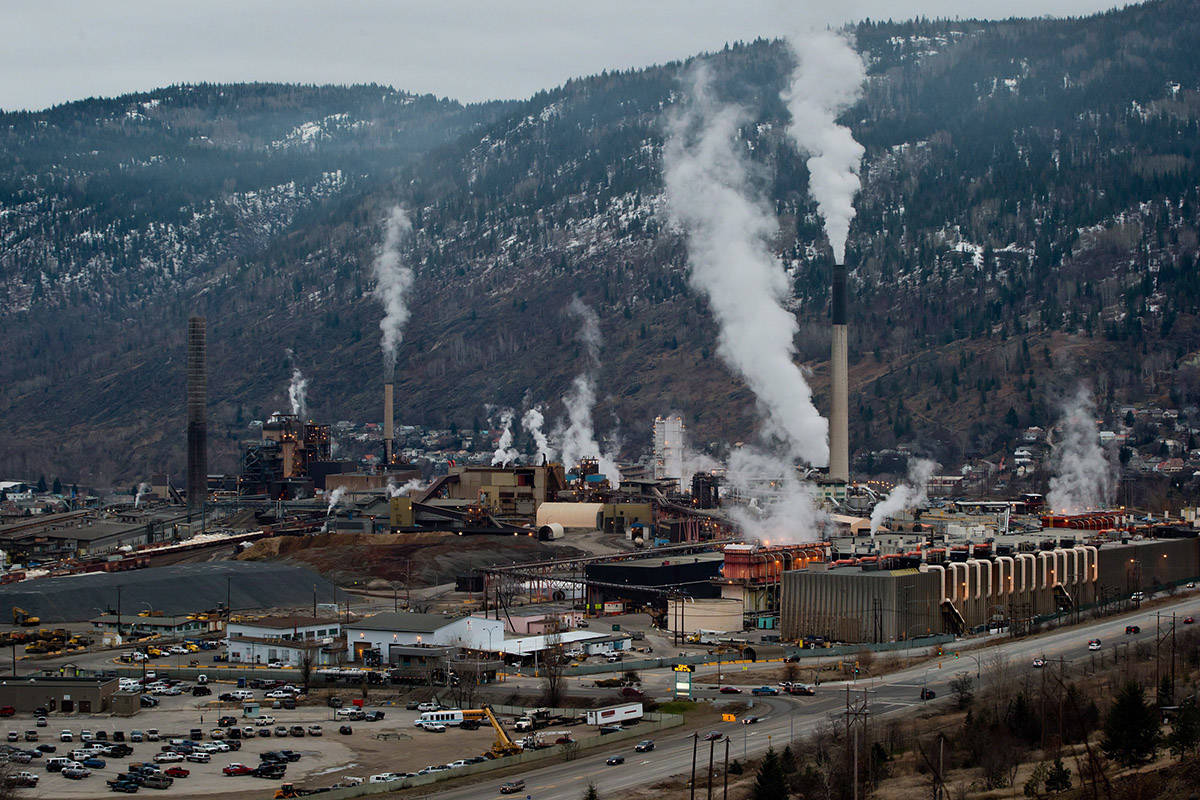 FILE – Teck Mining Company's zinc and lead smelting and refining complex is pictured in Trail, B.C., on Tuesday November 27, 2012. THE CANADIAN PRESS/Darryl Dyck