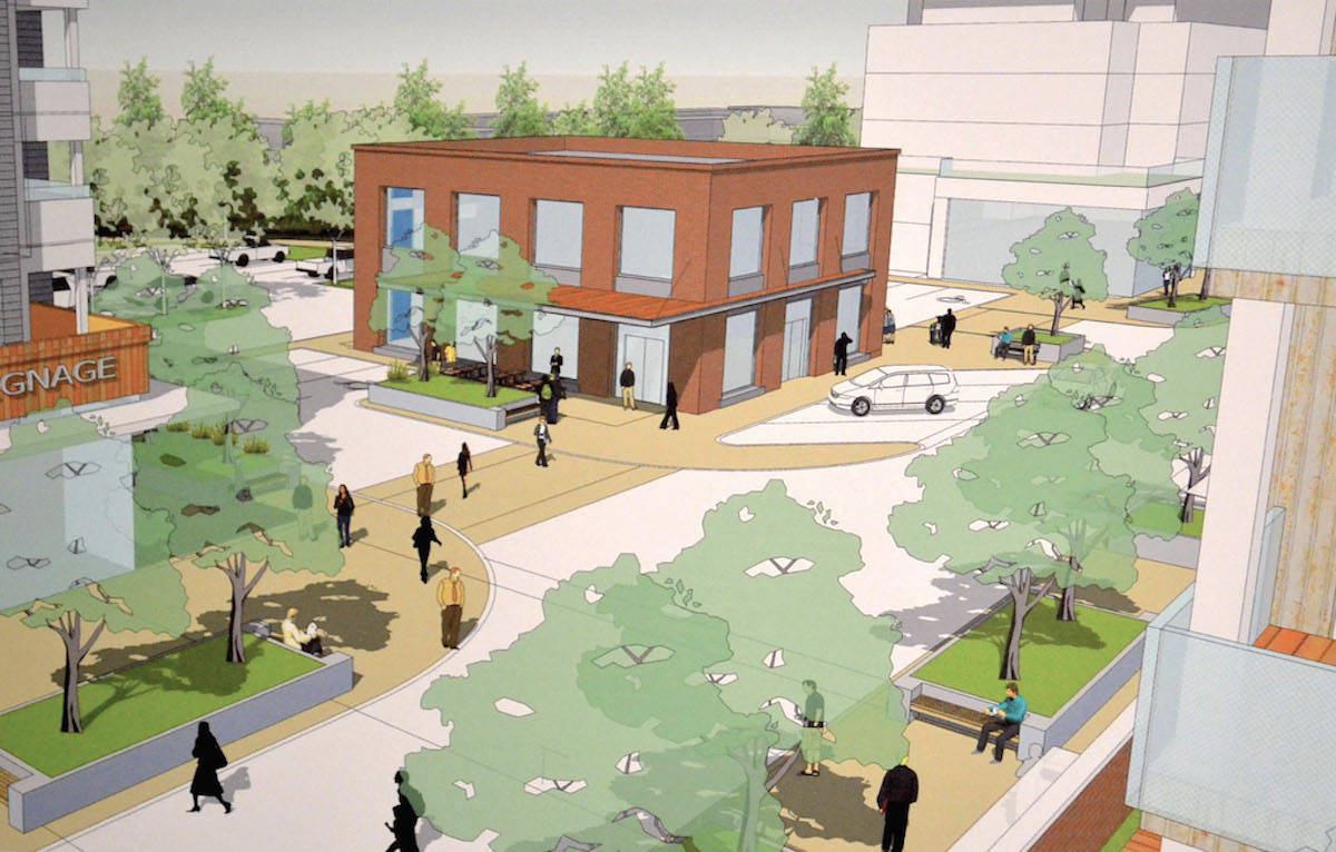 The Janda Group showed the community their plans for revitalization of the 272 Street mall. (Sarah Grochowski photo)