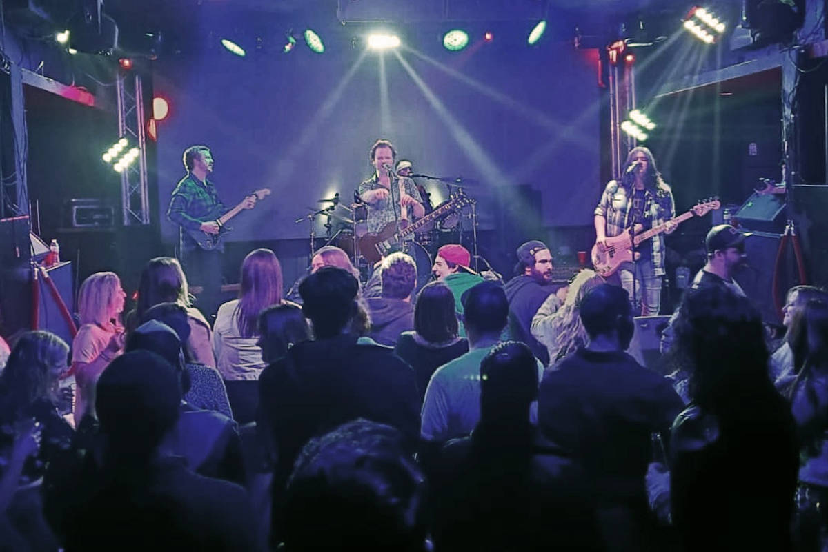 """The local rock band played their latest show, releasing new single """"A1,"""" in downtown Vancouver on Feb. 8. (Submitted photo)"""