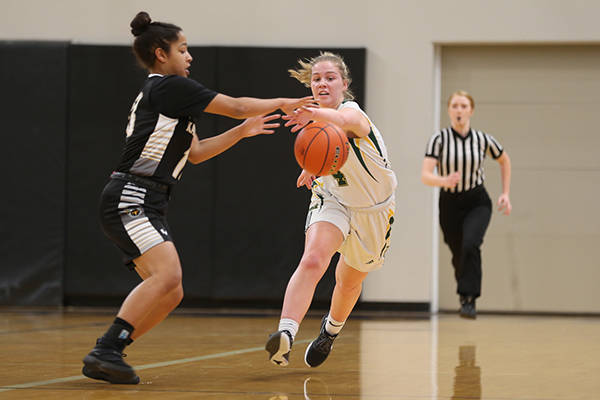 North Vancouver's Argyle Secondary vs. South Kamloops in action at the B.C. Girls Junior Basketball Invitational Championships at the Langley Events Centre. (Vancouver Sports Pictures)