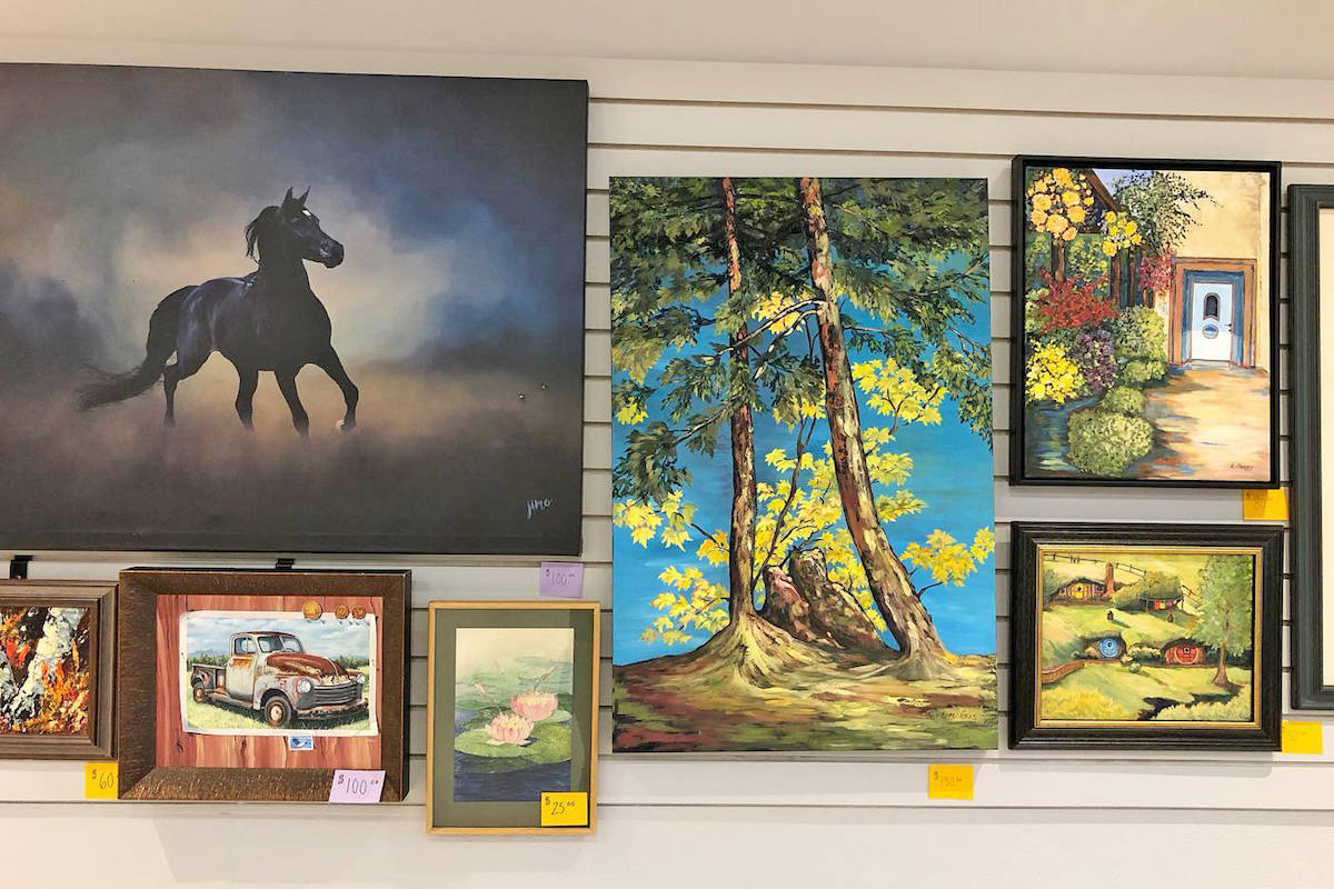 PHOTOS: Secondhand painting and puzzle sale this weekend in Aldergrove