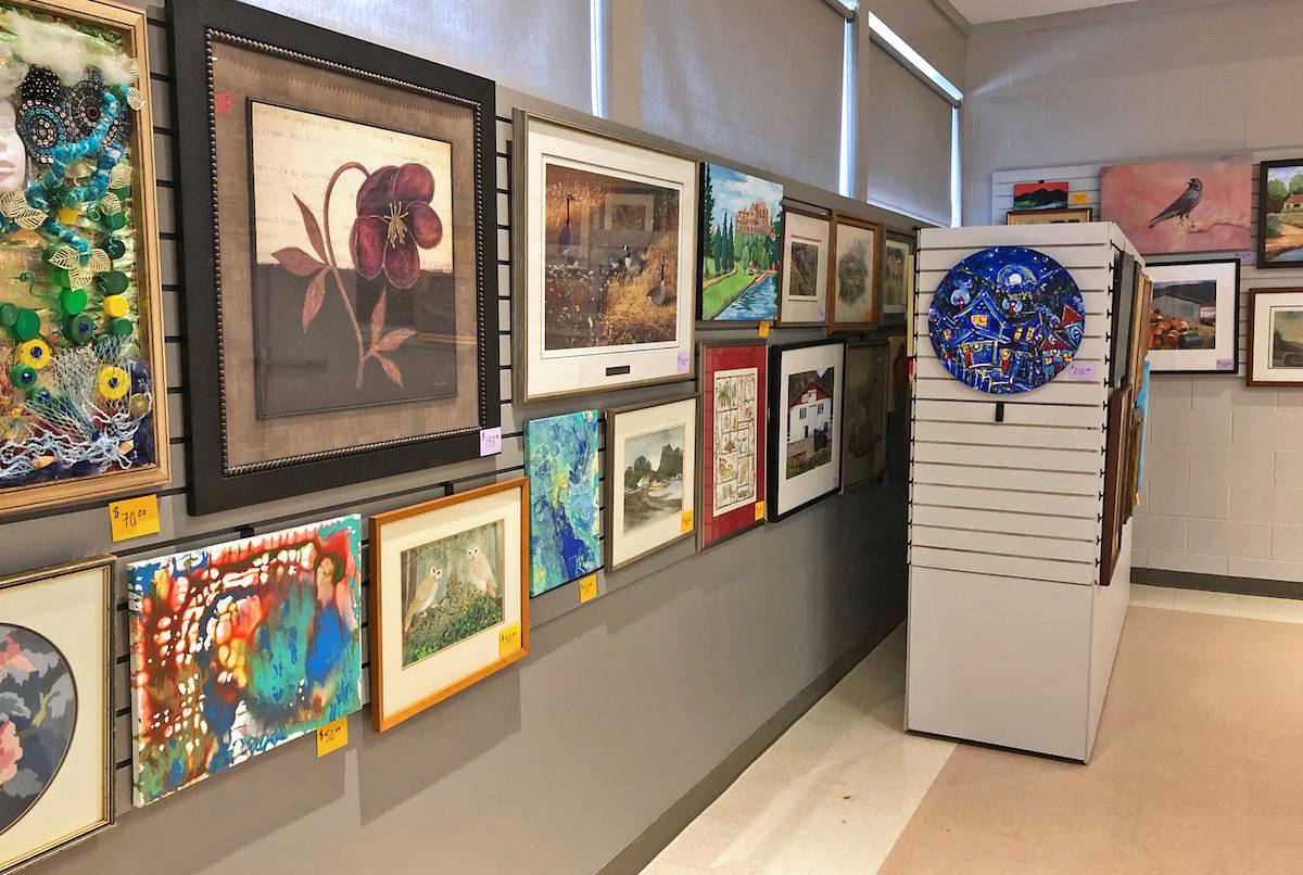 Langley Arts Council, located inside the Kinsmen centre, will host an array of paintings and art, as well as puzzles and books – all at reasonable prices this weekend. (Submitted photo)
