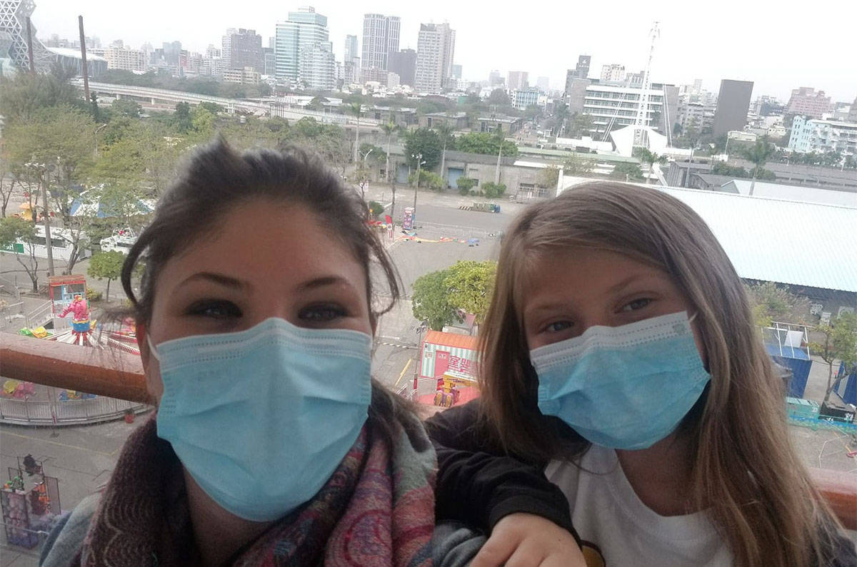 Jensine Morabito and her daughter Eva were quarantined in Cambodia (Submitted)