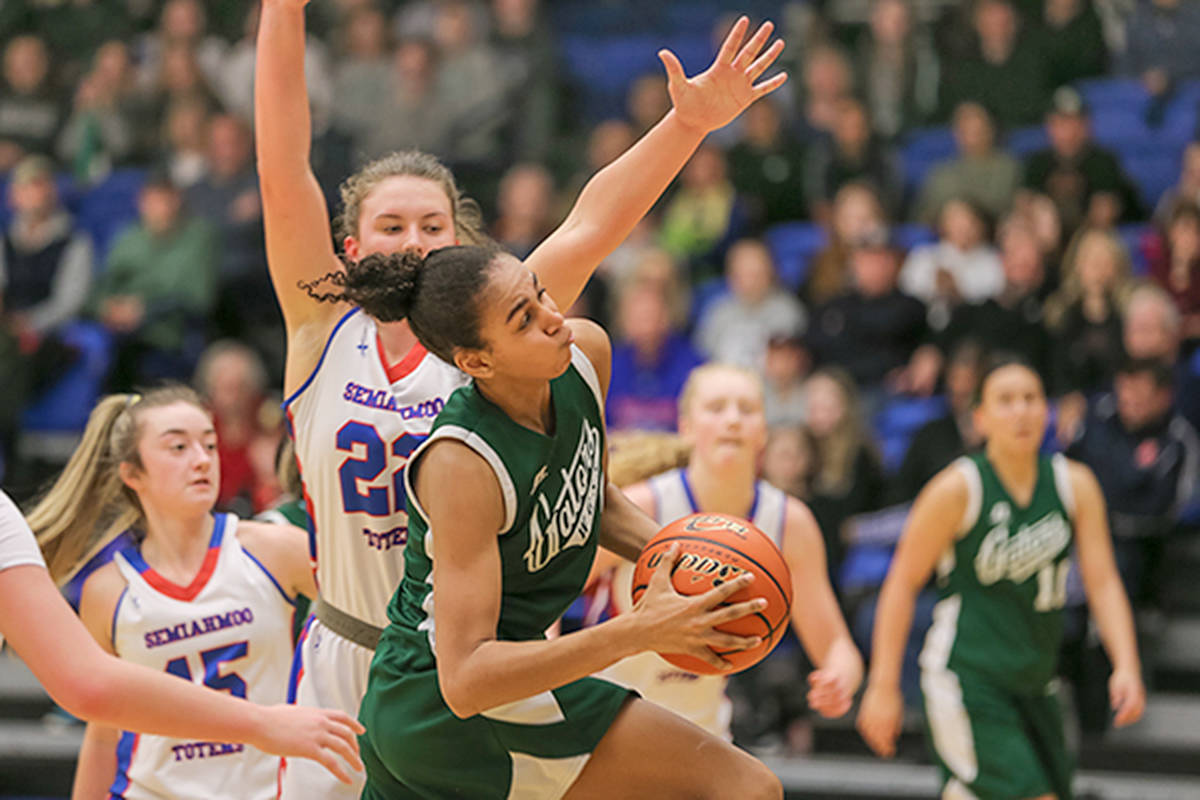 Totems defeated the No. 4 Walnut Grove Gators from Langley in a semifinal that was a rematch of the 2019 title game. (Vancouver Sports Pictures/special to Langley Advance Times)
