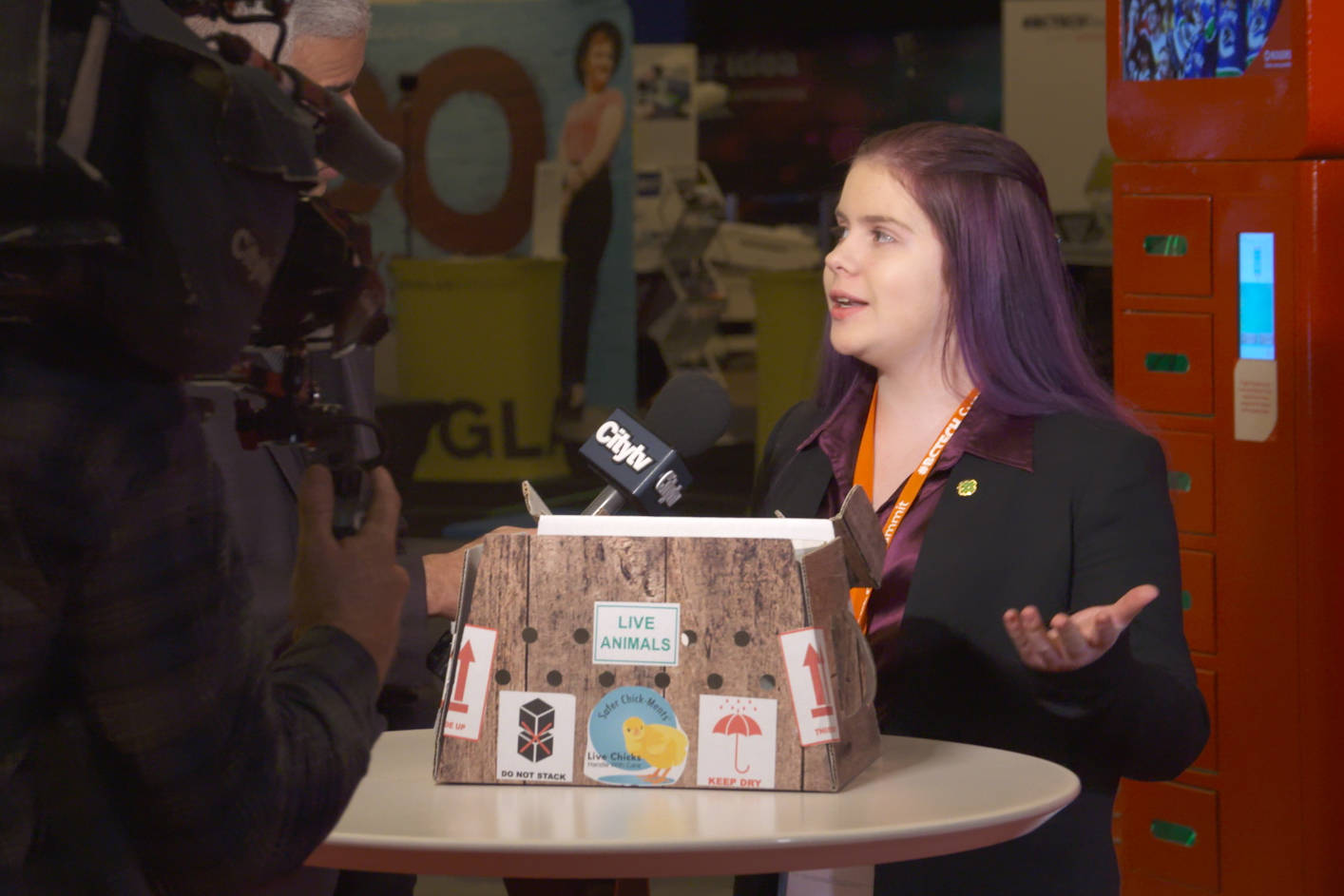 Mac Dykeman presented her chick shipping container at the 2019 Youth Innovation Showcase. Submit your innovation for a chance to present at the 2020 Showcase!