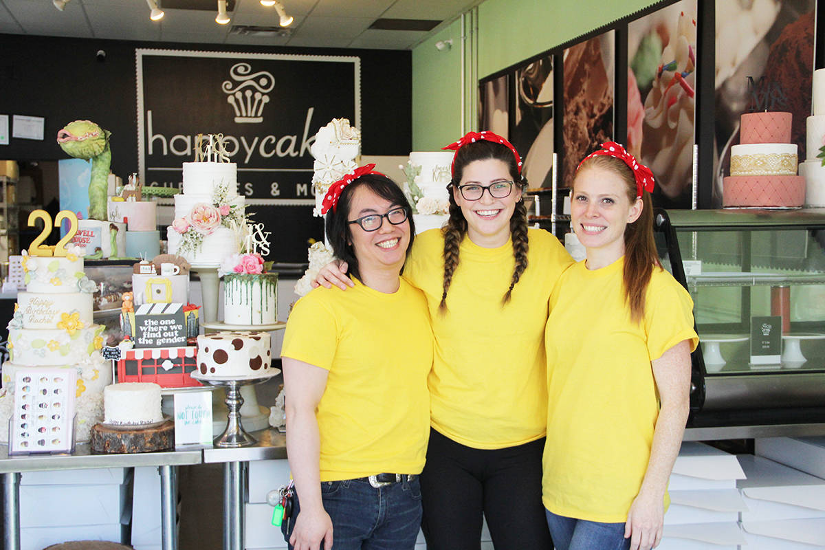 """Cory Jong (left) Rachel Jongejan, and and Leila Shook will compete as Team Flour Power in the show """"The Big Bake"""" on the Food Network May 5. The trio will attempt to win $10,000. (Photo: Malin Jordan)"""