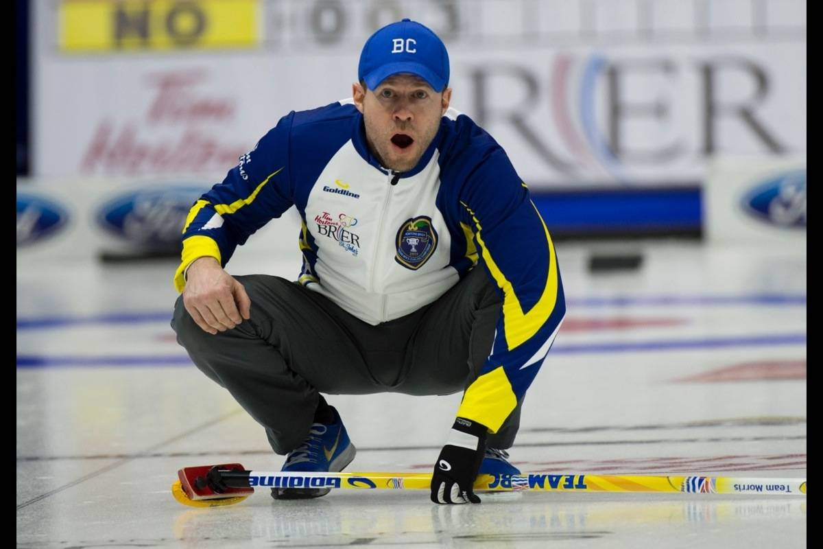 Vernon's Jim Cotter saw his record fall to 1-1 Sunday, March 1, at the Tim Hortons Brier Canadian Men's Curling Championships in Kingston, Ont. with an 11-3 loss to Ontario. (Canadian Curling Association file photo)