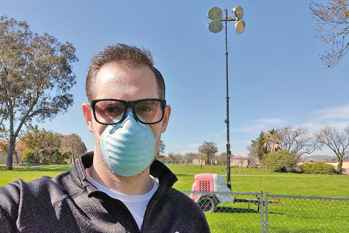 Fort Langley resident Spencer Ferenbacher spent a month in quarantine, two weeks aboard a cruise ship, then two weeks at U.S. air force base (Spencer Ferenbacher/special to Langley Advance Times)