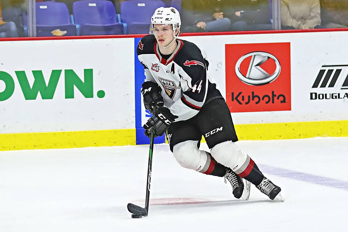 Giants player Bowen Byram has been named the WHL McSweeney's Player of the Month for February (Rob Wilton/special to Langley Advance Times)