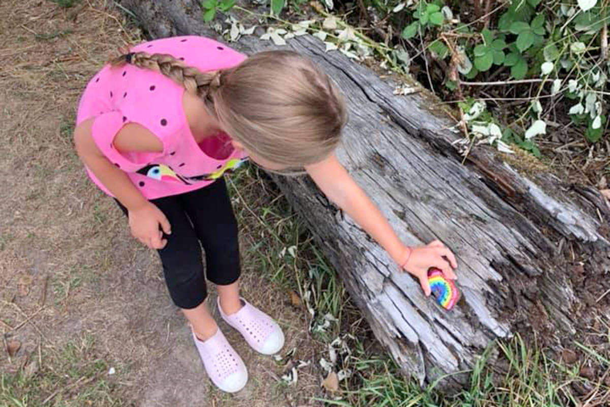 A Fort Langley mom started a rock hunt after she saw the positive impact it had on a community she was visiting during vacation. (Fort Langley Rocks/Special to the Langley Advance Times)