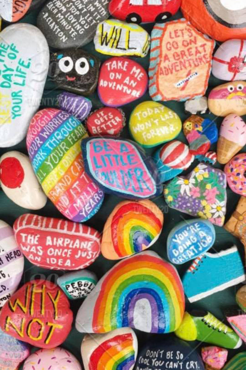 A Fort Langley resident started a community-wide rock hunt to help people get outdoors and promote joy. (Fort Langley Rocks/Special to the Langley Advance Times)