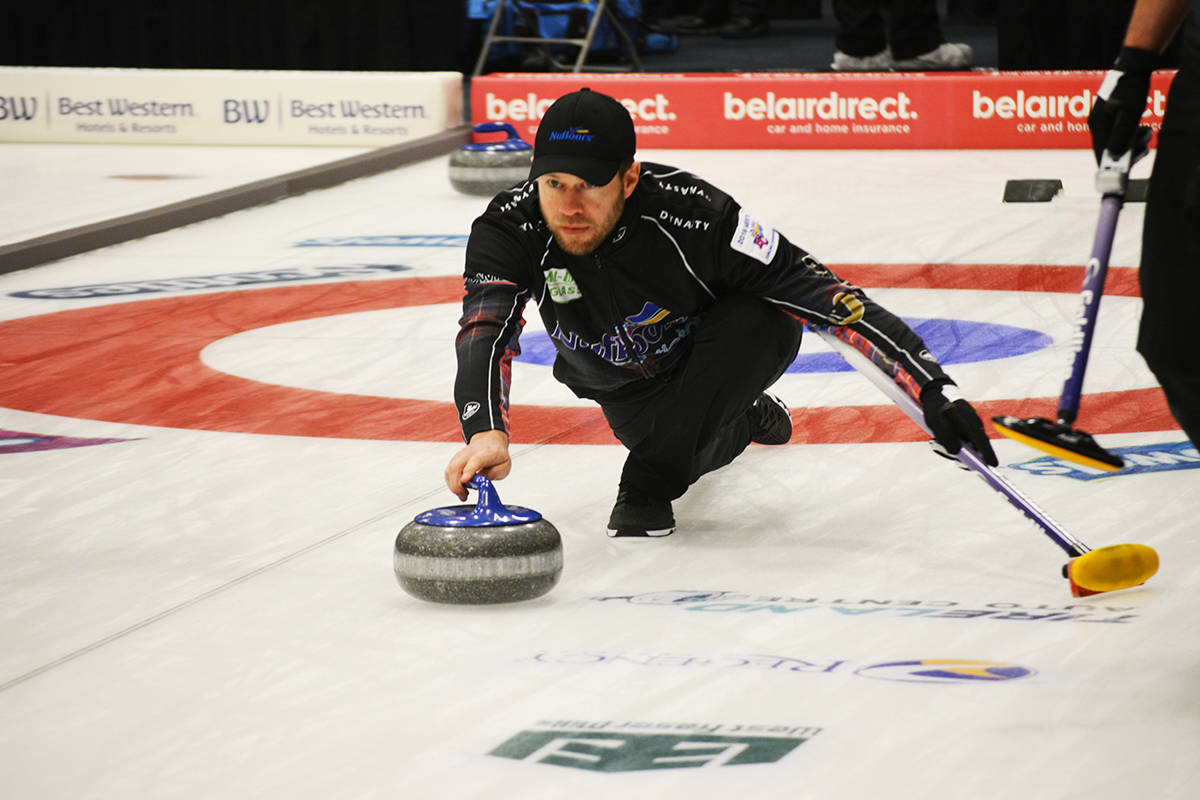 Skip Jim Cotter of Vernon finished the 2020 Tim Hortons Brier in Kingston, Ont. with a 9-3 loss to the defending champions Team Canada, skipped by Kevin Koe of Calgary. (Black Press - file photo)