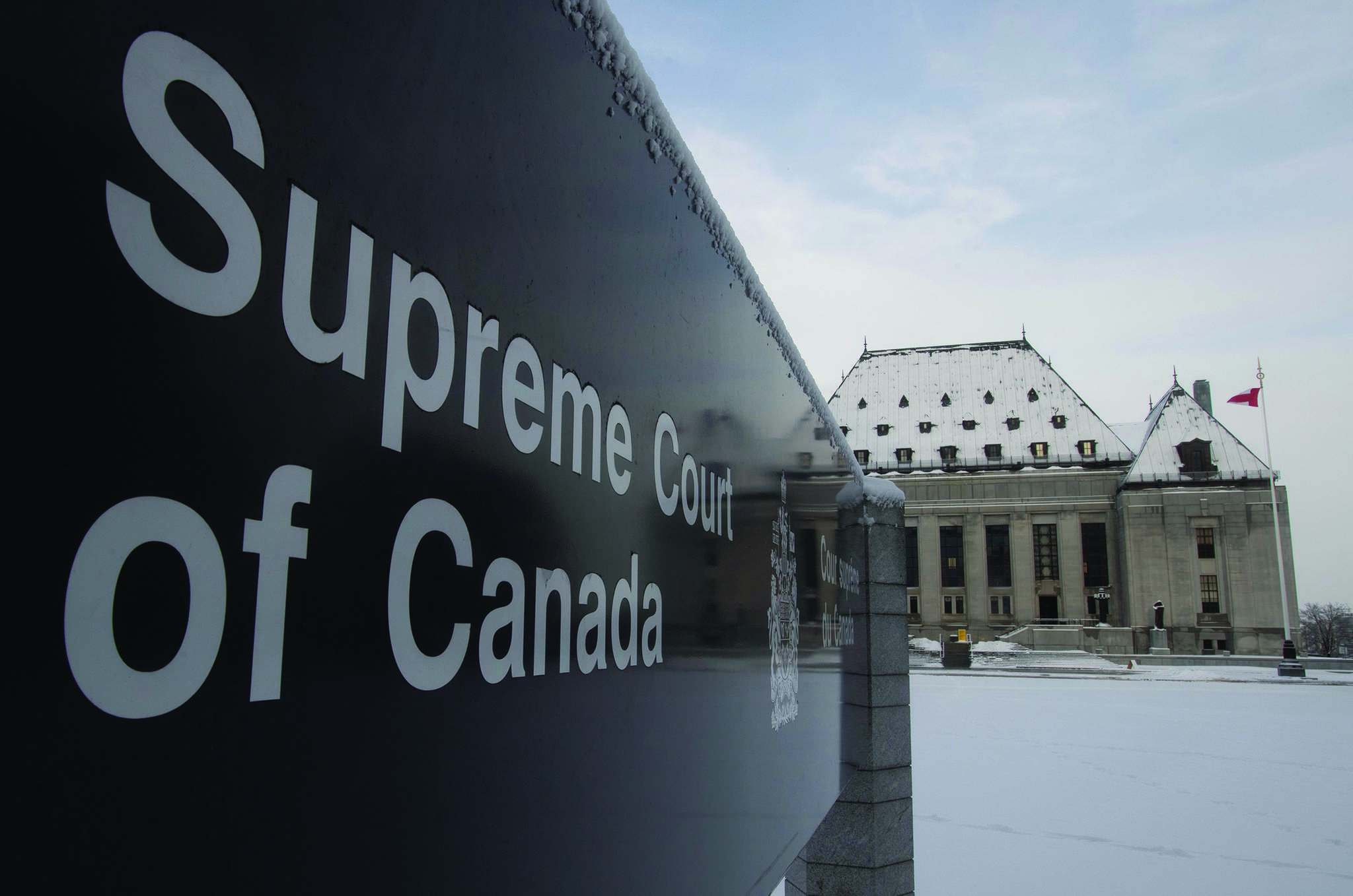 The Supreme Court of Canada is seen in Ottawa on January 16, 2020. THE CANADIAN PRESS/Adrian Wyld
