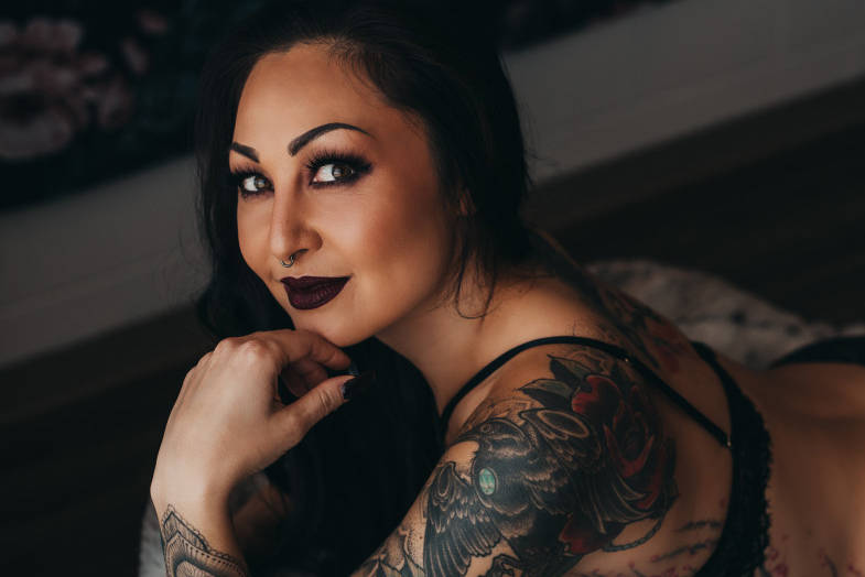 Kelowna's Stasi Raptis hopes to crack the top five in voting to advance to the next round of the 2020 Inked Cover Girl contest. (Contributed)