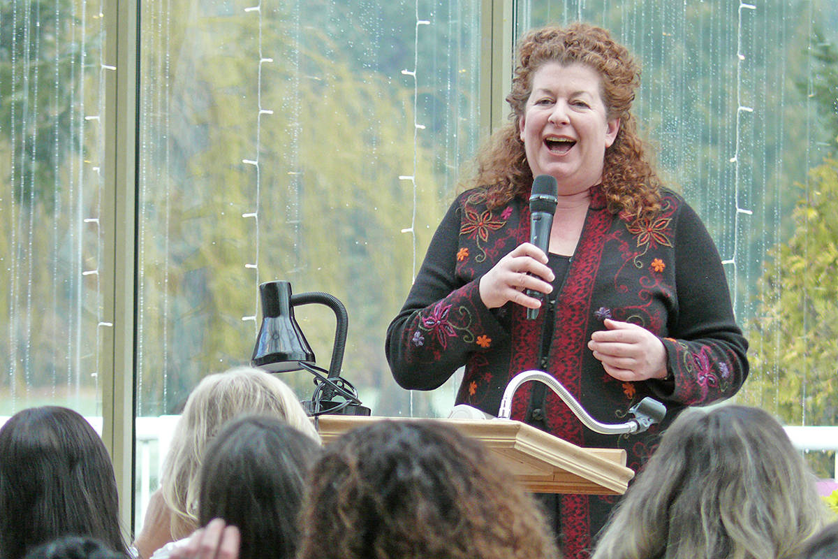 Words can be a 'box' that limit career options for women, warned Kirsten Brazier, featured speaker at the International Women's Day luncheon on Saturday, March 7th held by the Rotary Club of Langley Central (Dan Ferguson/Langley Advance Times)