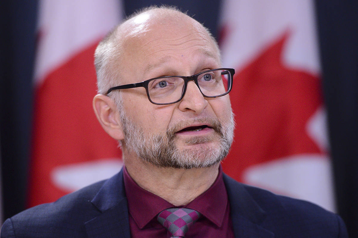 David Lametti, Minister of Justice and Attorney General of Canada during a press conference at the National Press Theatre in Ottawa on Monday Feb. 24, 2020. THE CANADIAN PRESS/Sean Kilpatrick